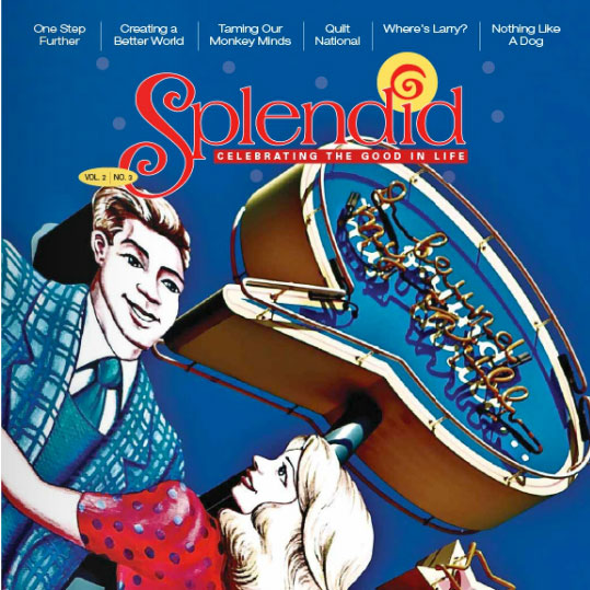 Quilt National artists article featured on cover of Splendid Magazine