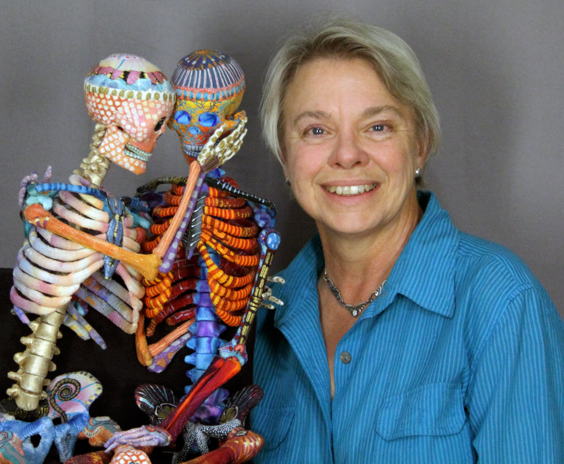 Susan Else with her artwork