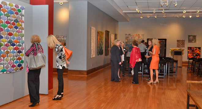 Opening night at the St. Louis University Museum of Art sponsored by Safe Connections.