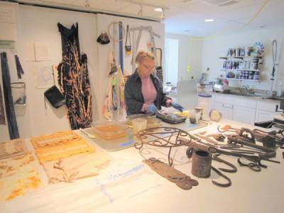 Regina Benson in her studio