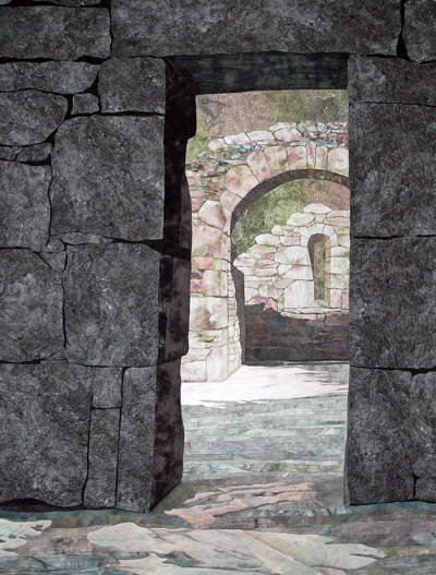 """Monastic Ruin at Glendalough"" by Denise Labadie, 78H x 60W, Glendalough, Co. Wicklow, Ireland"