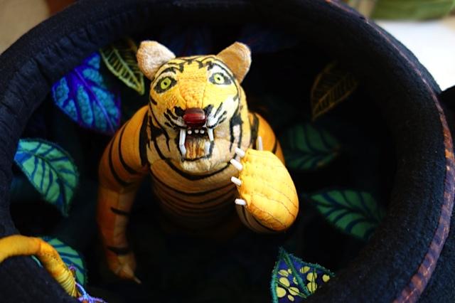 Susan Else teapot with Tiger