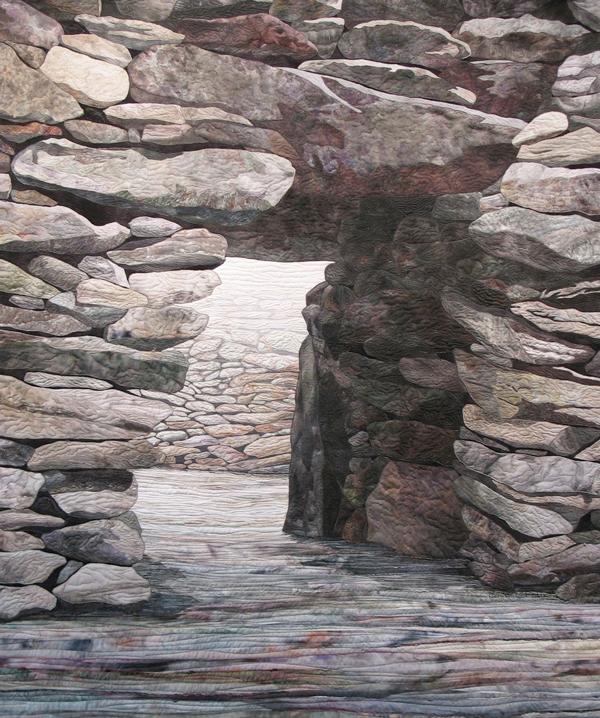 Irish Stone Fort Ruin by Denise Labadie, 48H x 40W, Dingle Peninsula, Co. Kerry, Ireland