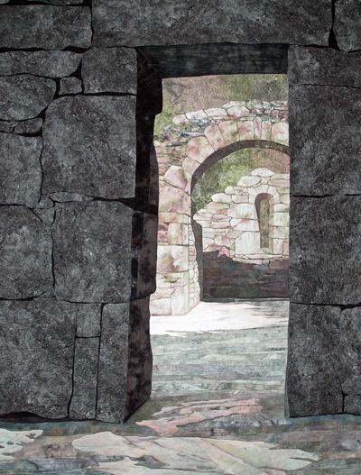"""Monastic Ruin at Glendalough"" by Denise Labadie, 78H x 60W, Glendalough, Co. Wicklow, Ireland"